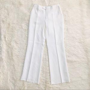 Ivory White Ellen Tracy NWT Petite Pleat Trousers